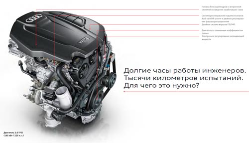 Двигатель 2.0 TFSI 225 л.с. 350 Н*м