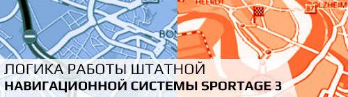 Навигационная система Kia Sportage - логика работы