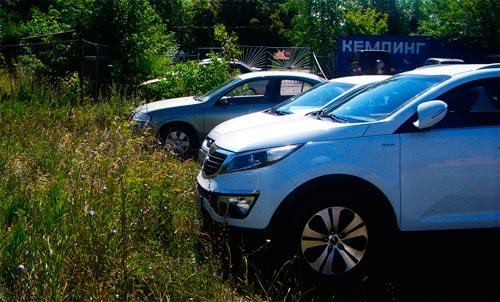 Парковка рядом с кемпингом Чайка, Ундоры, Ульяновская область