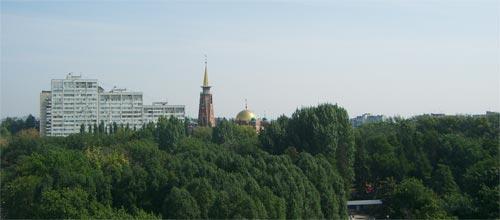 Вида на Самару с колеса обозрения, парк Гагарина