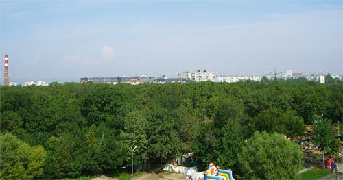 Вид на Самару с колеса обозрения, парк Гагарина
