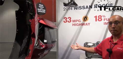 Бампер, крышка багажника нового Nissan X-Trail 2014