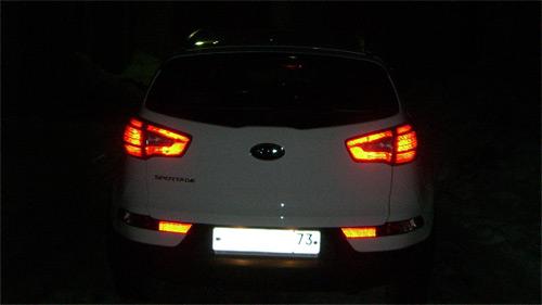 Задние засвеченные фонари KIA Sportage 3 SL