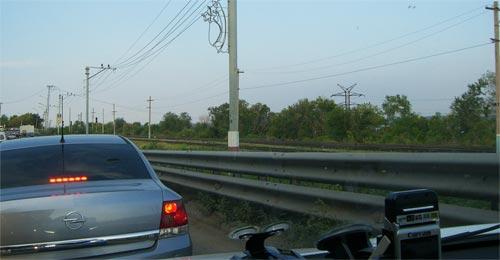 Небольшая пробочка на Императорском мосту в Ульяновске