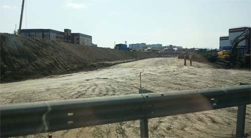 Ремонтно-строительные работы на объездной дороге около Пензы