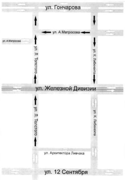Новая схема движения в центральной части города (Ульяновск)