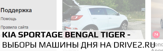 Kia Sportage Bengal Tiger - выборы на Drive2.ru