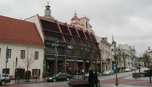 Одна их площадей в Вильнюсе