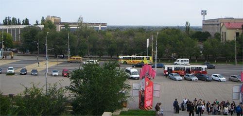 Подножье Мамаева Кургана в Волгограде